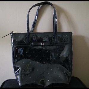 Authentic Kate Spade Polkadot Patent Leather Tote